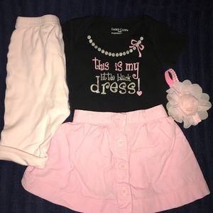 Baby Gap pink skirt girl onesie outfit 3-6 months